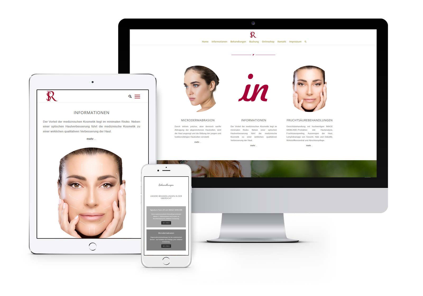 Webdesign Hennigsdorf für Kosmetikstudio