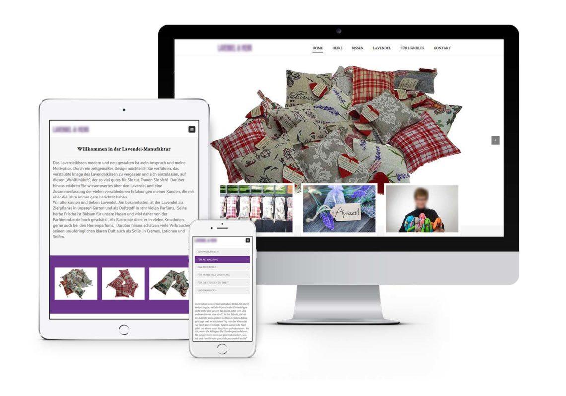 Website - Webdesign Hennigsdorf für Lavendelshop