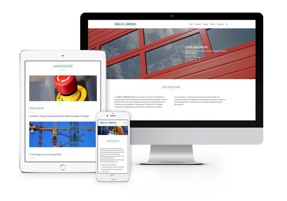 Webdesign Hennigsdorf für Dienstleistungsunternehmen