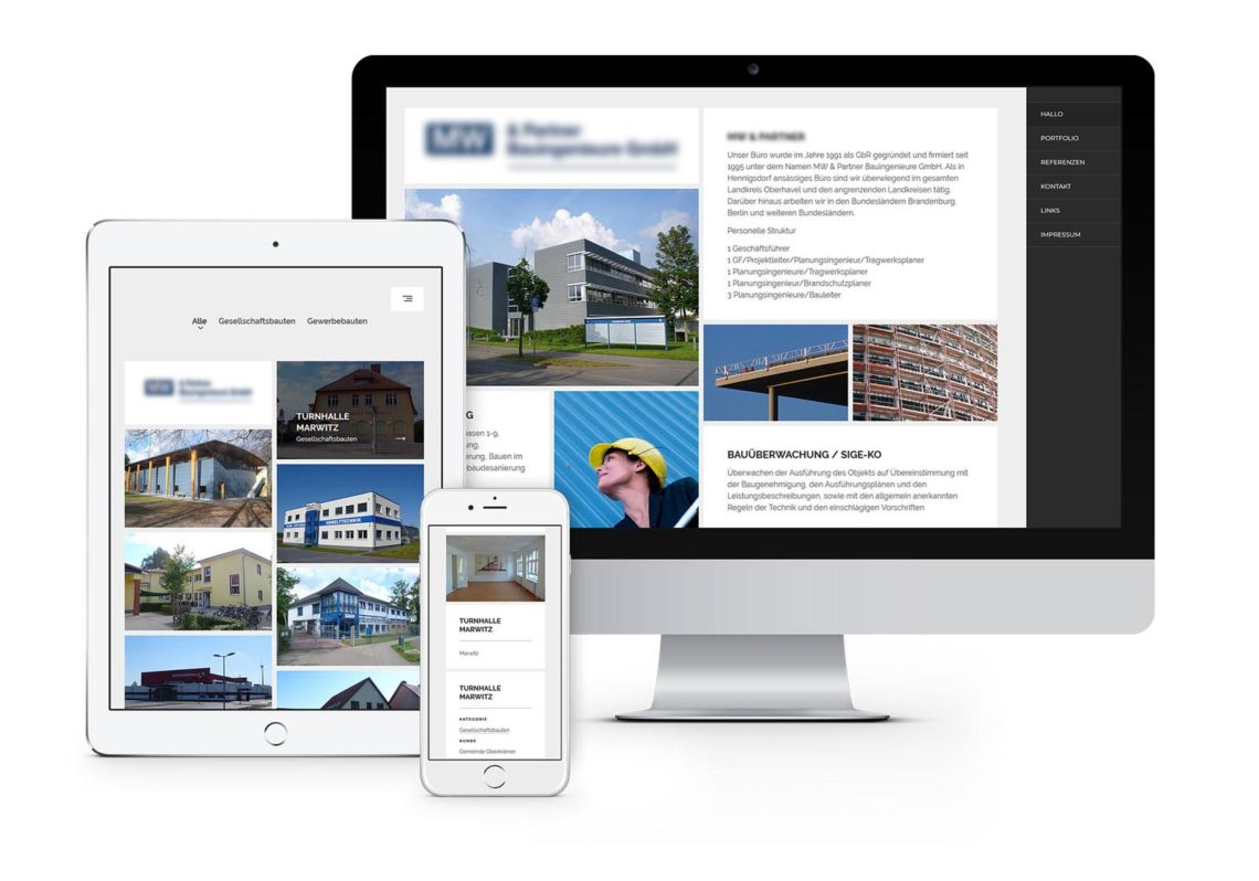Webdesign Hennigsdorf für Bauingenieure