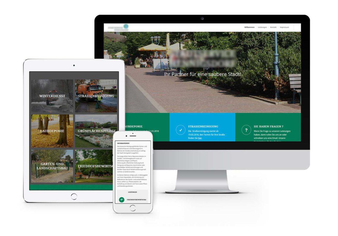 Website - Webdesign Hennigsdorf - Stadtreinigung