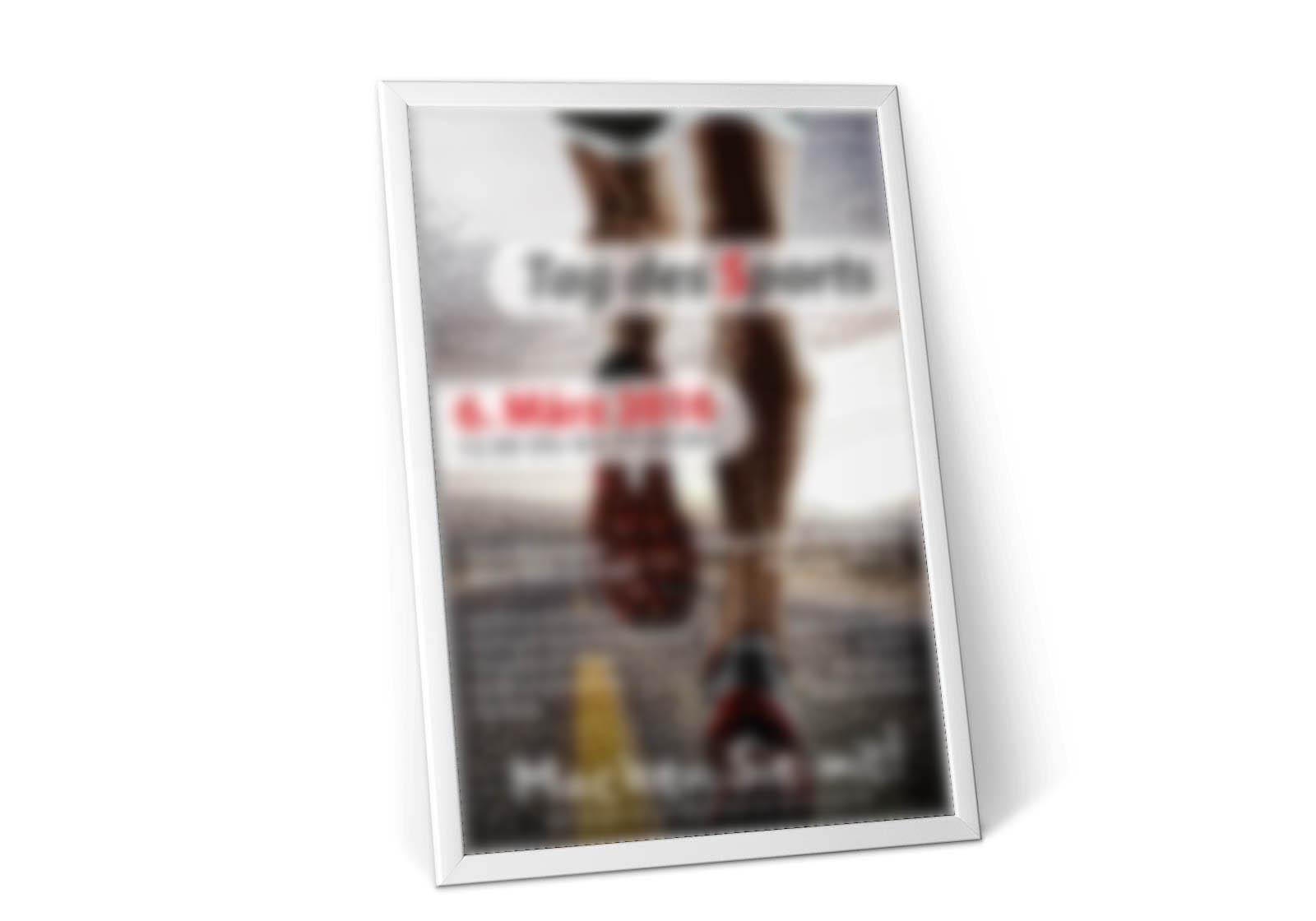 Plakat Printwerbung Hennigsdorf für Sportevent