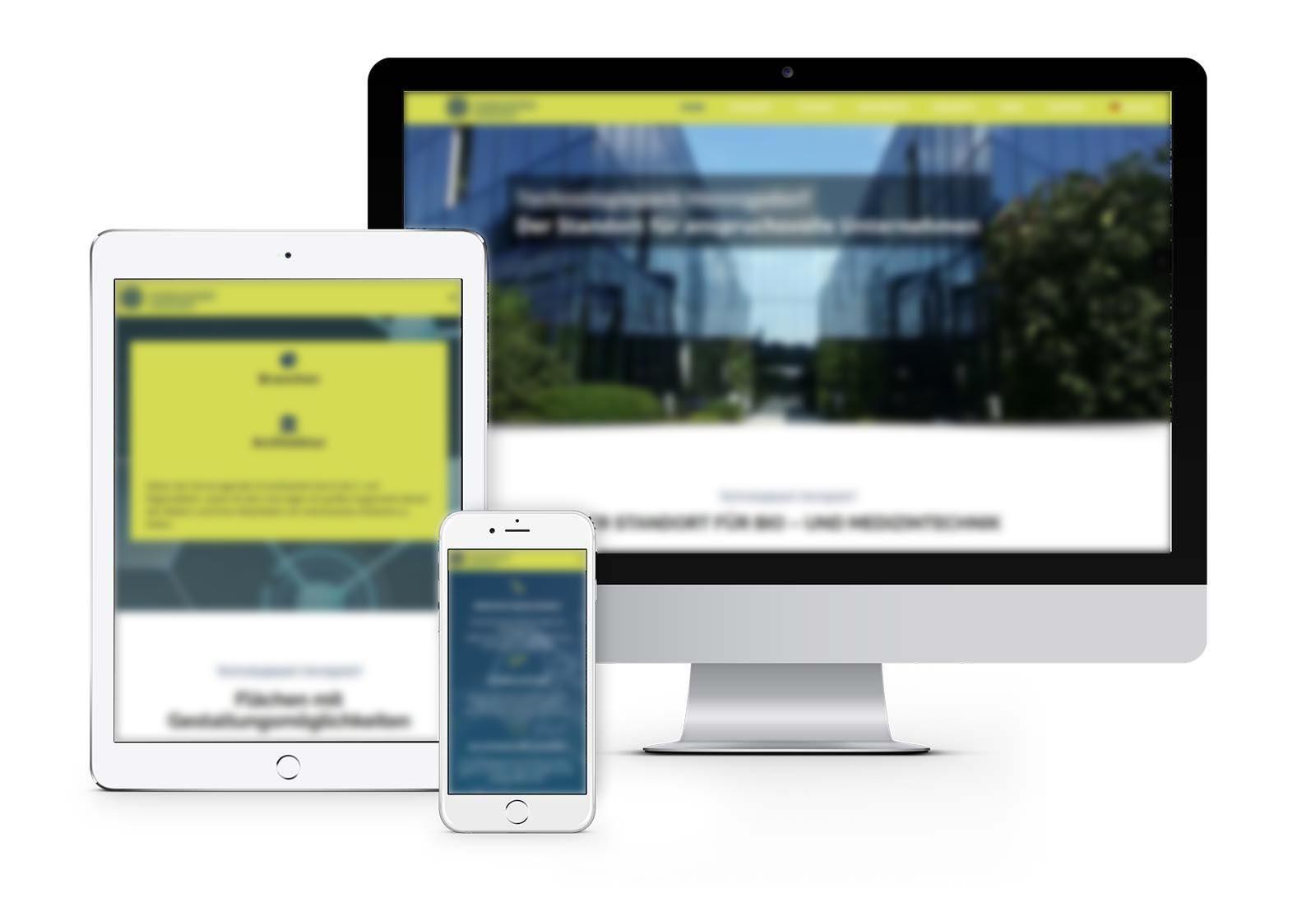 Webdesign Hennigsdorf für Technopark in Hennigsdorf