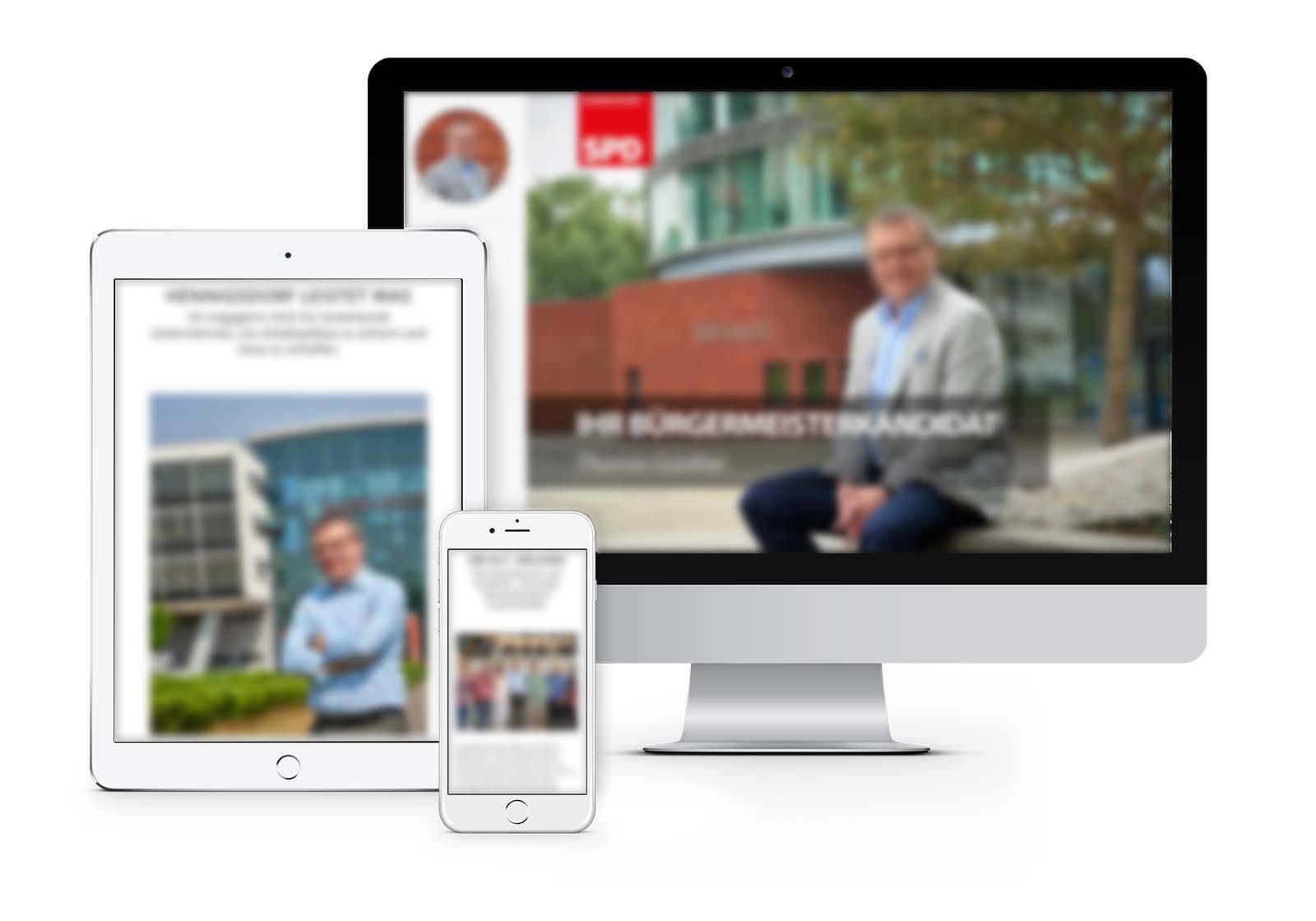 Webdesign für Hennigsdorfer Bürgermeister