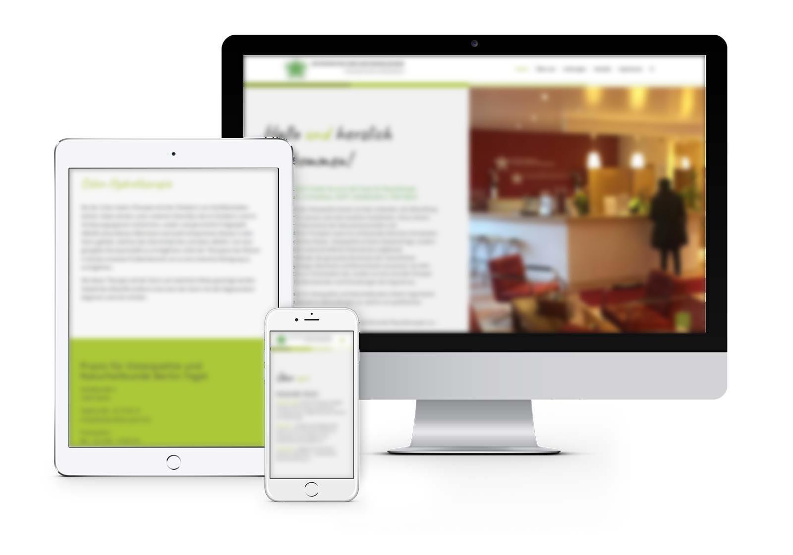 Webdesign Hennigsdorf für Praxis für Naturheilkunde