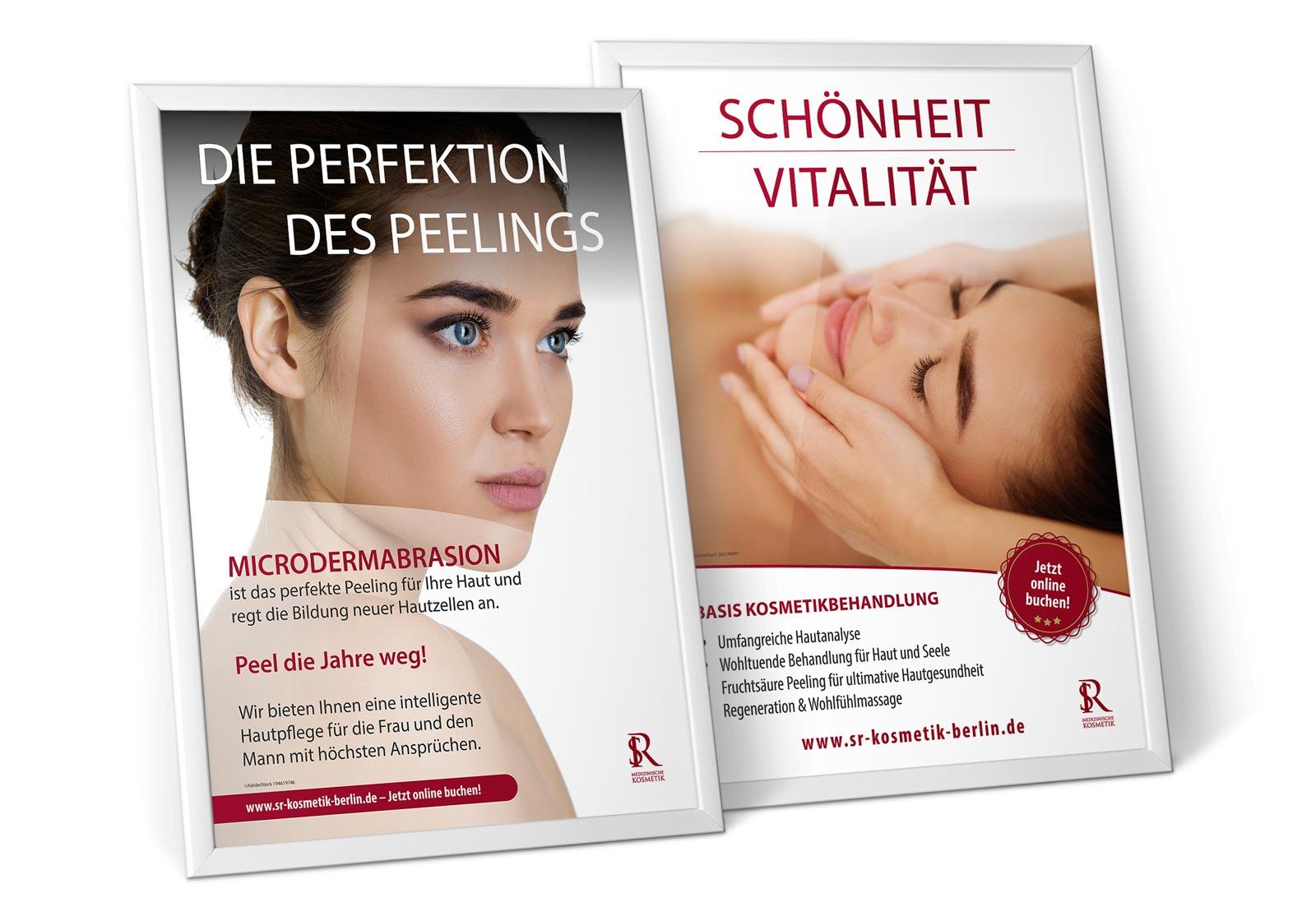 Werbeplakate für Kosmetikstudio