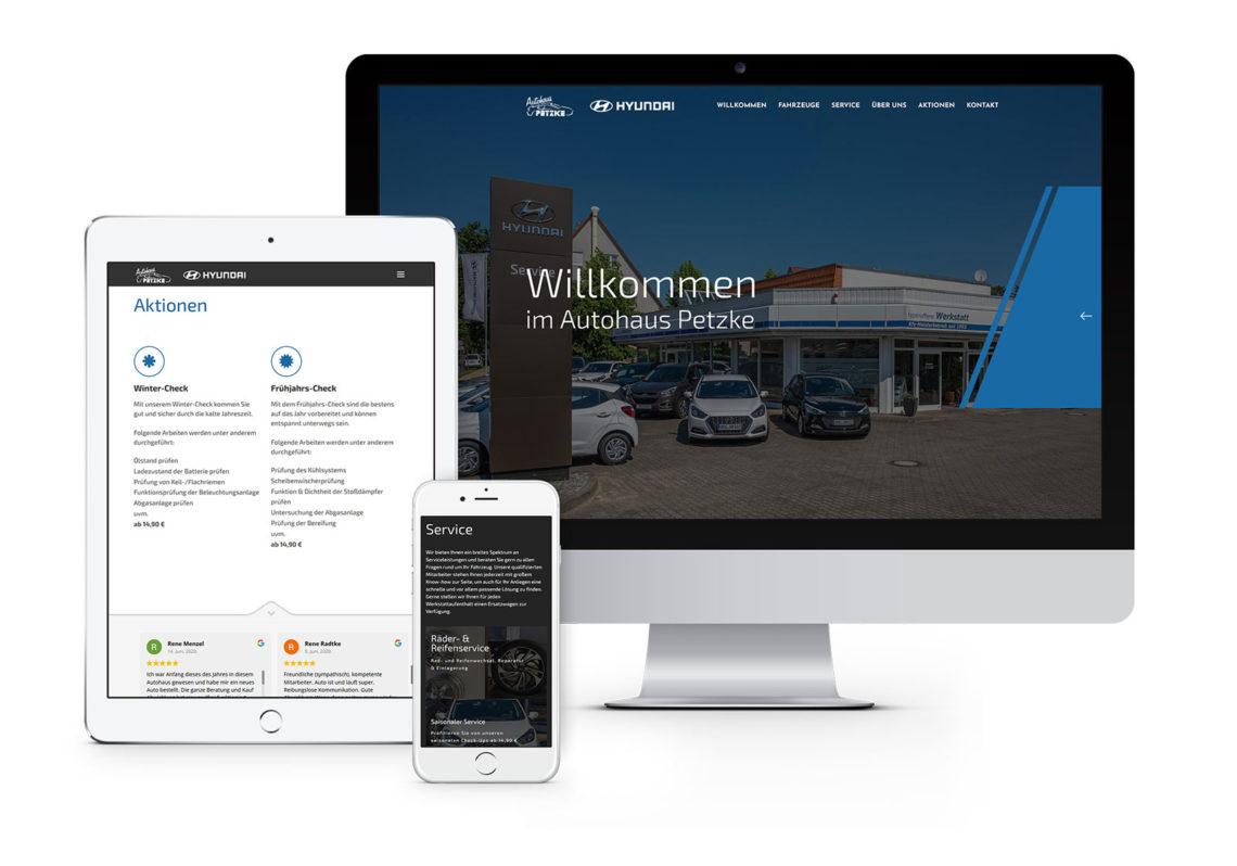 Webdesign Oberhavel für Autohaus